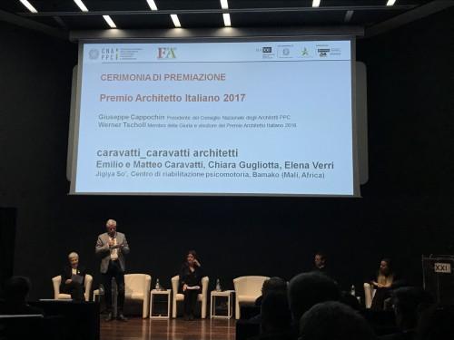 L'oscar dell'architettura italiana del 2017 a Caravatti con un progetto in Mali