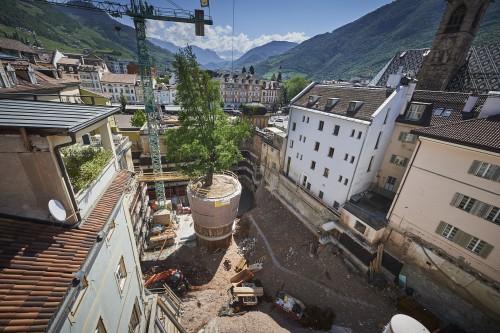 Rigenerazione urbana con i privati a Bolzano. Tour nel cantiere del Palais Campofranco