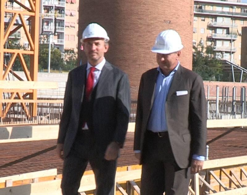 I vertici di Bnl visitano il cantiere di Tiburtina: entro ottobre inizieranno a salire gli 11 livelli