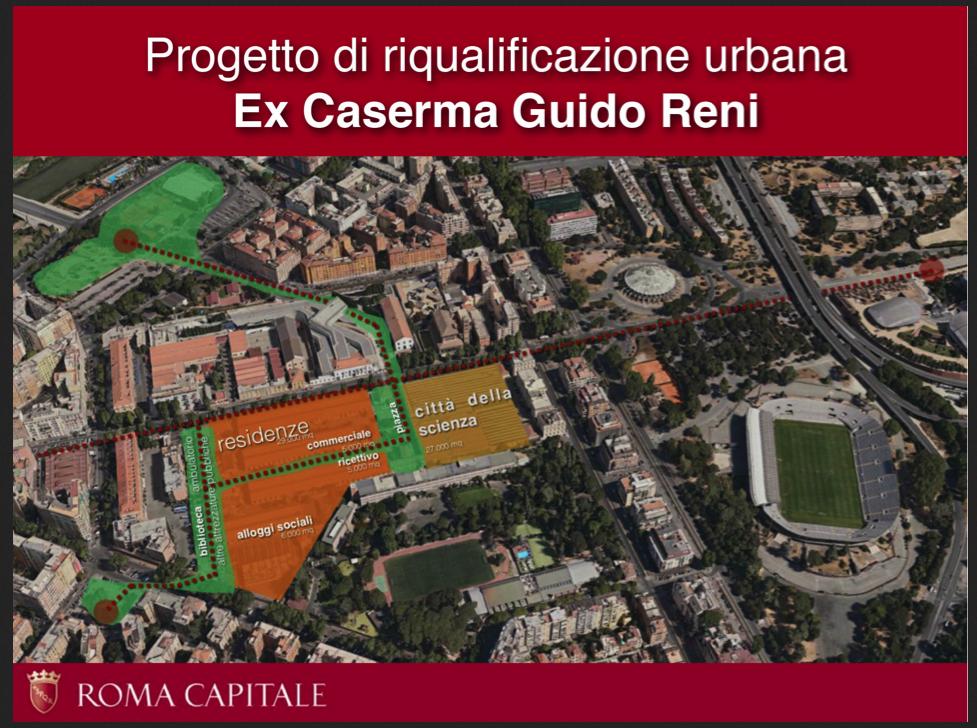 Urbanistica a Roma: dopo i laboratori di partecipazione, i concorsi per le caserme di via Guido Reni e per l'ex Fiera