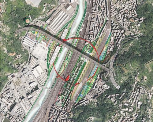 Genova, sotto il Ponte di Piano il parco di Boeri