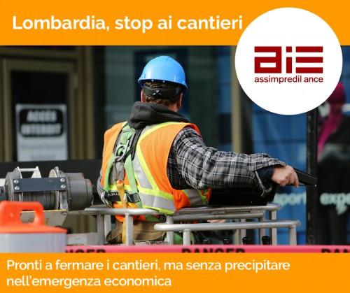 In Lombardia, pronti a fermare i cantieri, ma senza precipitare nell'emergenza economica