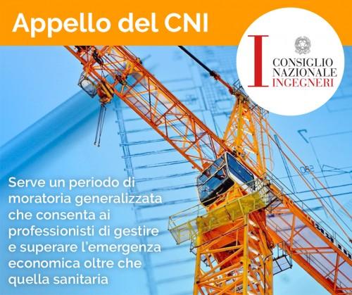 Appello del CNI a Governo e Inarcassa: servono misure speciali per i professionisti