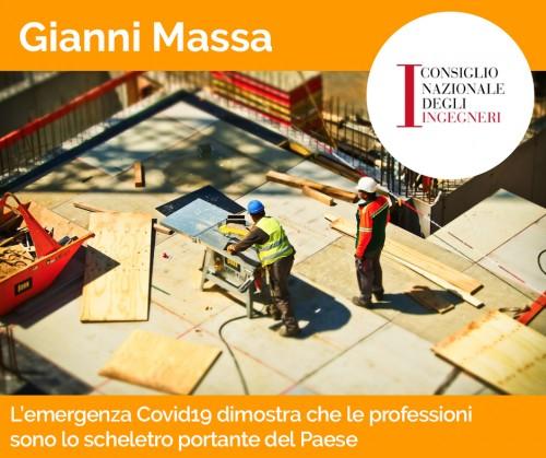 Massa: L'emergenza Covid19 dimostra che le professioni sono lo scheletro portante del Paese