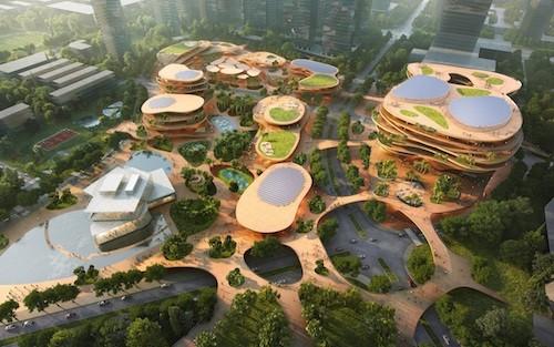 Mvrdv in Cina: un salotto urbano tridimensionale per l'università di Shenzhen