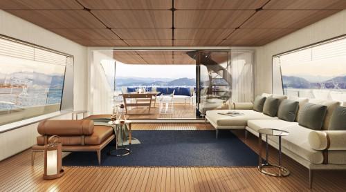 Un hotel a 5 stelle sull'acqua, ecco il nuovo yacht Citterio-Viel con Ferretti