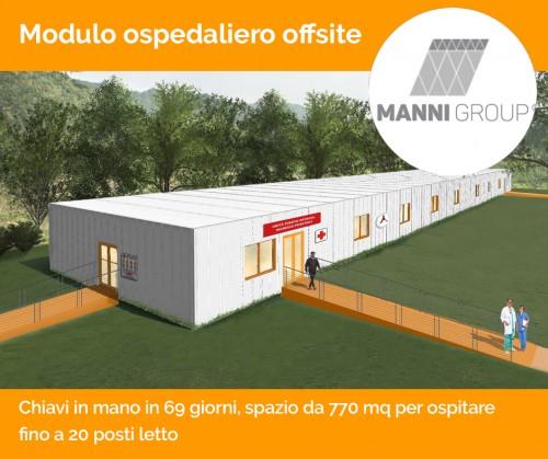 Da Manni Group un modulo ospedaliero offsite per rispondere alla crisi sanitaria