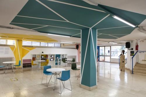 Con Enel Cuore cambiano look gli spazi pubblici del liceo Artistofane di Roma