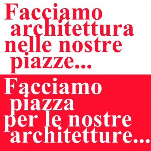 Flashmob, manifestazione informale degli architetti disperati