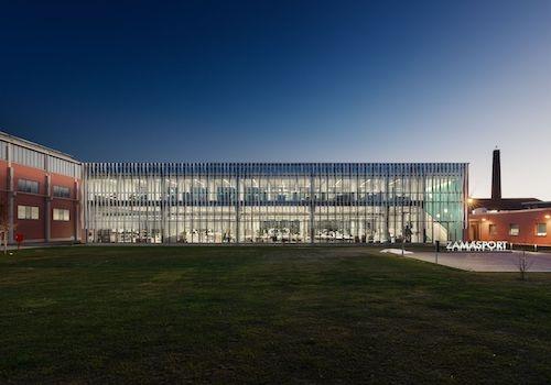 La slow architecture di Frigerio ha trovato casa con Zamasport e nel Ferrero Technical Center
