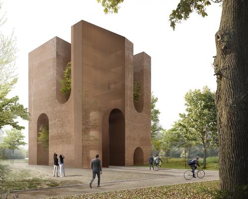 Torre uffici low-tech, firmata C+S Architects, vince un concorso in Belgio
