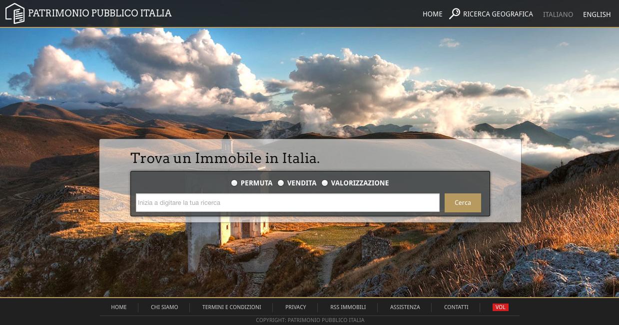 Online la vetrina degli immobili pubblici: catalogo interattivo per comprare e valorizzare