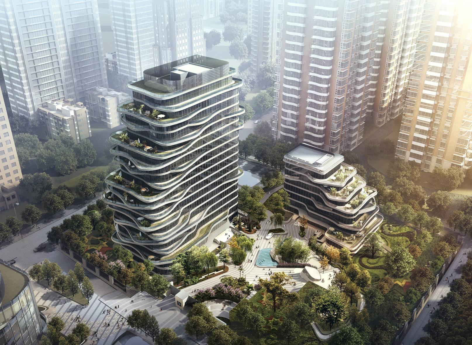 Giorgio Armani a Pechino per l'interior di un complesso di Mad Architects