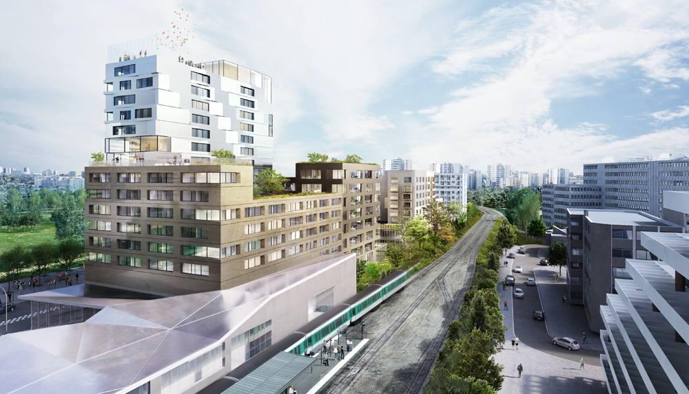 Complesso mixed use con Nexity e 5+1AA dove arriverà la linea metro del Grand Paris