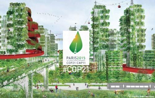 Stefano Boeri racconta a COP21 il suo progetto per una Città-Foresta in Cina: 100 boschi verticali