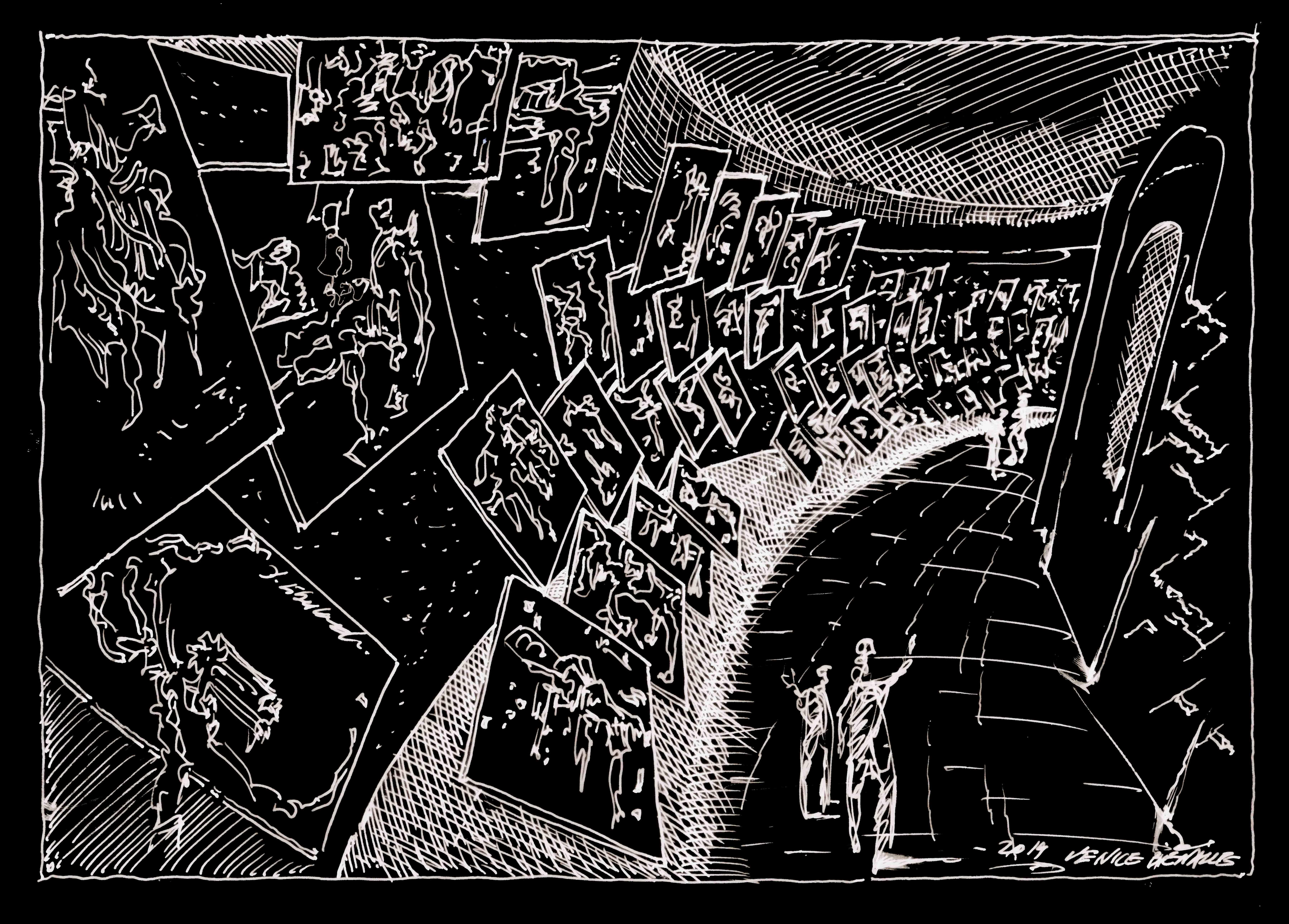 Cento disegni di Libeskind nel Padiglione Venezia