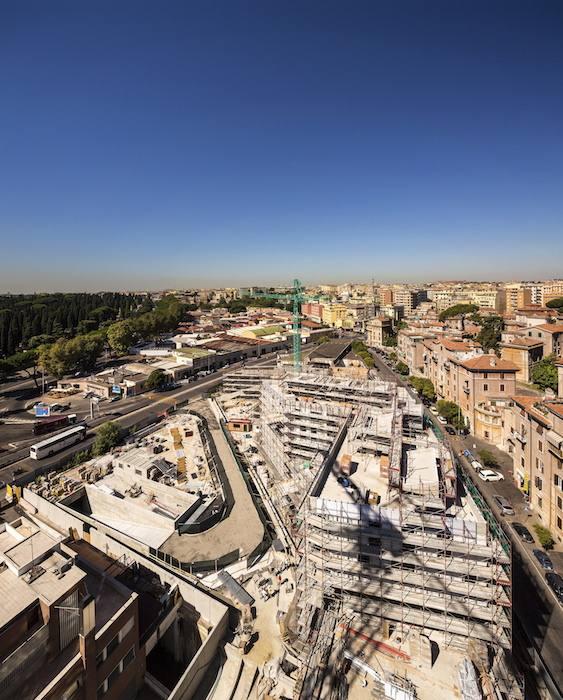 A Roma, la Città del Sole con case e uffici dove c'era un deposito Atac