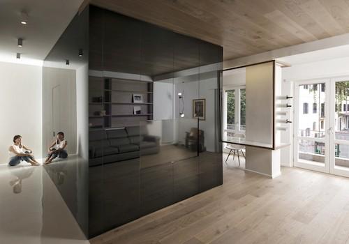 Il cubo con la casa intorno, tre storie di interior design