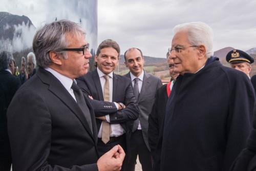 Architettura di qualità e antisismica: Mattarella visita l'Opificio Salpi di Preci